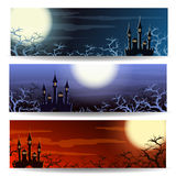 Halloween Banner Set Royalty Free Stock Photography