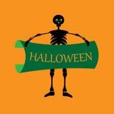 Halloween banner skull Stock Image