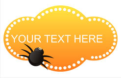 Halloween banner with spider Royalty Free Stock Photography