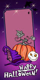 Halloween Banner violet Stock Photography