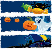 Halloween banners. Vector illustration. Part 2 royalty free illustration