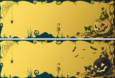 Halloween banners Royalty Free Stock Photos