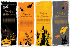 Halloween banners. Collection of four vertical Halloween banners Stock Image