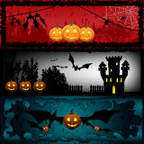 Halloween banners Stock Images