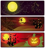 Halloween banners.  Royalty Free Stock Photos