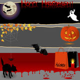 Halloween banners. Royalty Free Stock Photography