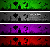 Halloween banners. Dark scary abstract halloween banners. Vector illustration Royalty Free Stock Photos