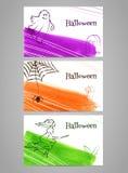 Halloween-banners Stock Afbeelding