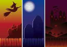 Halloween Banners. Halloween banner set vertical. Vector Illustration Royalty Free Stock Photography