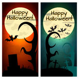 Halloween banners backgrounds set Royalty Free Stock Photos