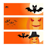 Halloween banners backgrounds set. Vector illustration Stock Photography