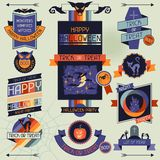 Halloween banners, badges and design elements Royalty Free Stock Images
