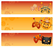 Halloween banners. Stock Photos