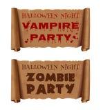 Halloween banners set vector illustration