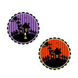 Halloween banners or cupcake toppers. Royalty Free Stock Images