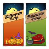 Halloween banners or flyers concept. Royalty Free Stock Photos