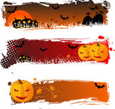 Halloween banners grungy Stock Photography