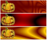 Halloween Banners or Headers Stock Photos