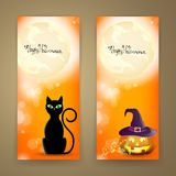 Halloween Banners Royalty Free Stock Photography