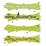 Halloween Banners. For party or party invites stock illustration