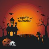 Halloween Banners with scary and interest design royalty free illustration