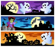 Halloween banners set 1 Royalty Free Stock Image