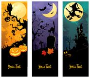 Halloween banners set Stock Photo