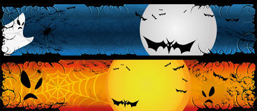 Halloween banners set Royalty Free Stock Photos