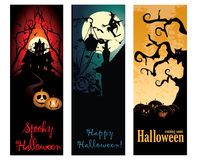 Halloween banners set Royalty Free Stock Photography