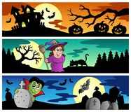 Halloween banners set 2 Royalty Free Stock Image