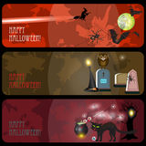 Halloween banners set Stock Image