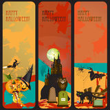 Halloween banners set Stock Images