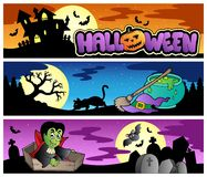Halloween banners set 3 Royalty Free Stock Photography