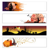 Halloween Banners Set Royalty Free Stock Photo