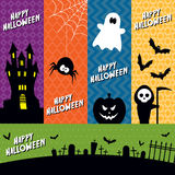 Halloween banners royalty free illustration