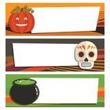 Halloween banners royalty free illustration