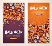 Halloween Banners Set. Vector Illustration. Flat Stock Image