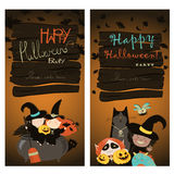 Halloween Banners Set Royalty Free Stock Images