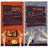 Halloween Banners Set Royalty Free Stock Image