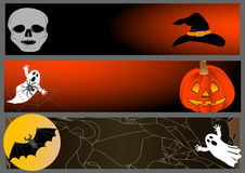Halloween banners. vector illustration. Royalty Free Stock Image