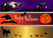 Free Halloween Banners. Vector Illustration. Stock Photography - 16654802