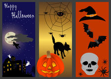Halloween banners. vector illustration. Stock Photos