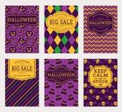 Halloween banners. Vector set. Stock Images