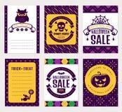Halloween banners. Vector set. Royalty Free Stock Photos
