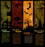 Halloween Banners - Vertical Set Stock Images
