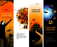 Halloween banners vertical for your design Royalty Free Stock Images