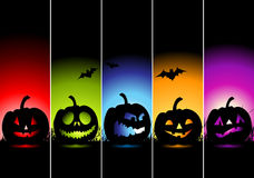 Halloween banners for your design. Vector illustration Stock Image