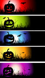 Halloween banners for your design. Vector illustration Stock Images