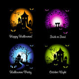 Halloween banners for your design Stock Image