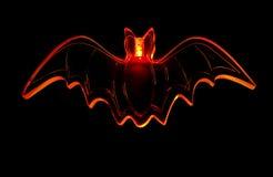 Halloween Bat. Glowing Orange Halloween Bat, Isolated on Black Royalty Free Stock Image